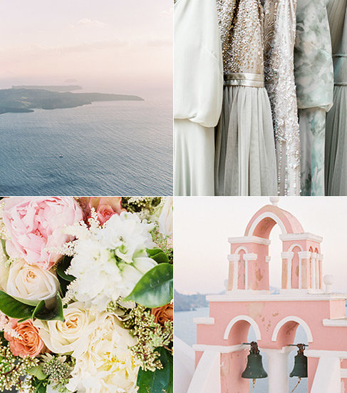 A combination of spring color palettes.