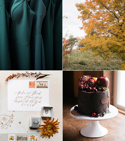 A combination of fall color palettes.